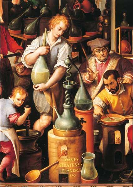 Il laboratorio dell'Alchimista, Giovanni Stradano (1523 - 1605)