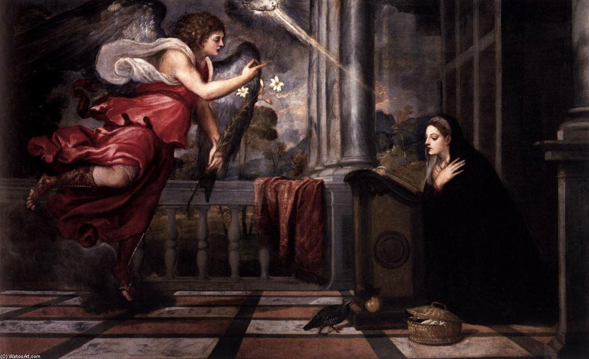 l'Annunciazione (1535), Tiziano Vecellio