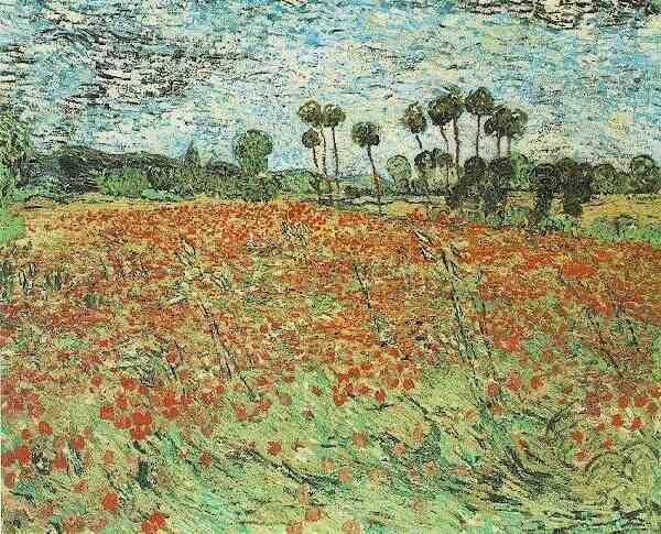 Campo con papaveri (Field with poppies), 1890; Olio su tela (73 x 91,5 cm)