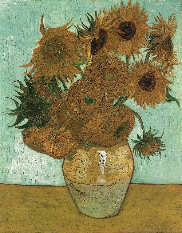 Natura morta: vaso con dodici  girasoli (Still Life: vase with twelve sunflowers),  1888; Olio su tela (91 x 72 cm)