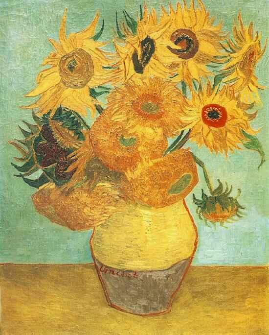 Natura morta: vaso con dodici girasoli (Still life: vase with twelve sunflowers),  1889; Olio su tela (92 x 72.5 cm)