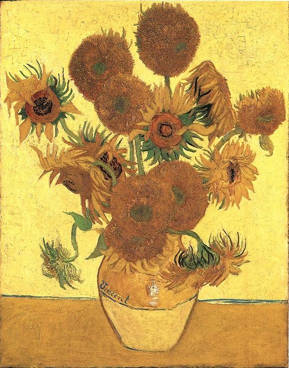 Natura morta: vaso con quindici girasoli (Still life: vase with fifteen sunflowers), 1888; Olio su tela (93 x 73 cm)