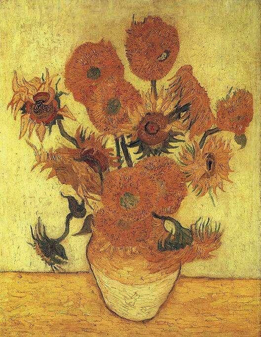 Natura morta: vaso con quindici girasoli (Still life: vase with fifteen sunflowers), 1889; Olio su tela (100.5 x 76.5 cm)