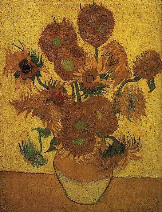 Natura morta: vaso con quindici girasoli (Still life: vase with fifteen sunflowers), 1889; Olio su tela (95 x 73 cm)