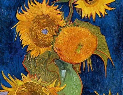 Natura morta: vaso con cinque girasoli – Still life: vase with five sunflowers – Vincent van Gogh