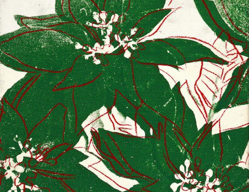 Poinsettias Andy Warhol