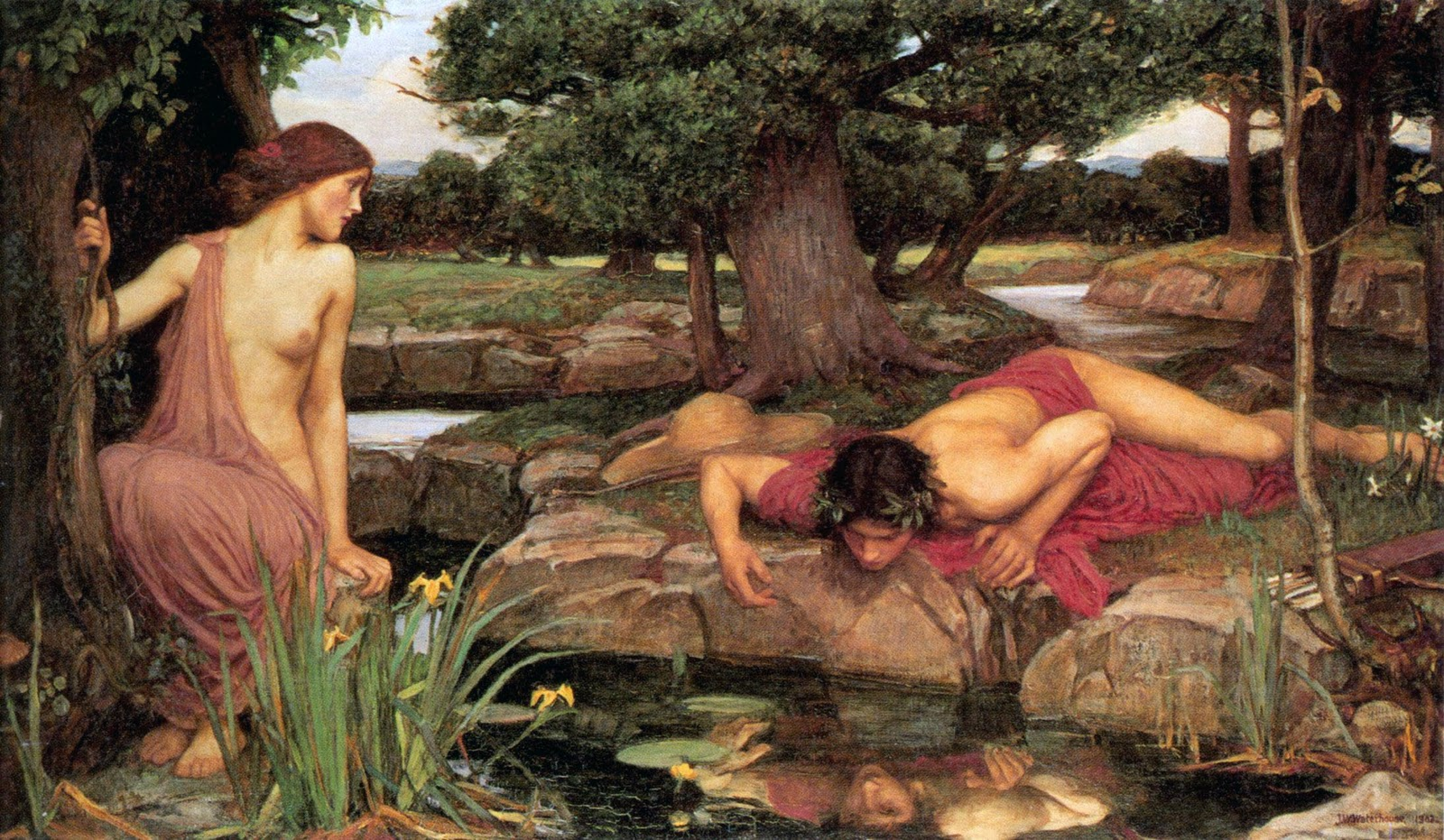 Eco e Narciso ( Echo e Narcissus) dipinto nel 1903 da John William Waterhouse