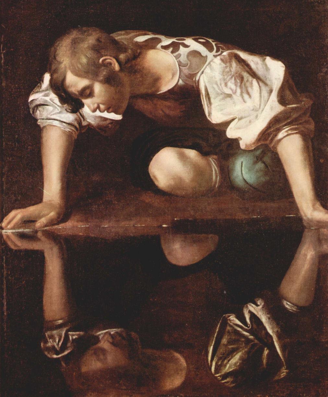 Narciso, realizzato tra il 1597 ed il 1599 da Michelangelo Merisi (Caravaggio)