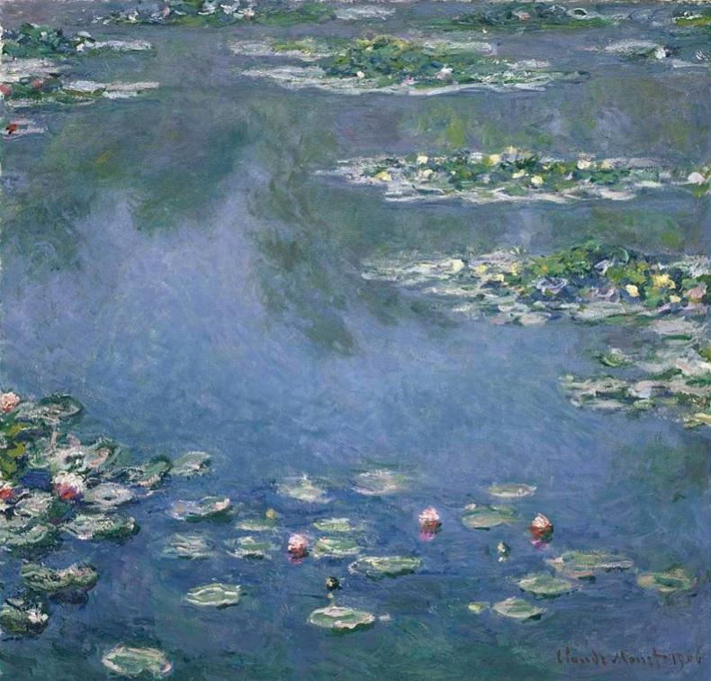 Ninfee, 1906; Esposto presso L'Istituto d'Arte di Chicago