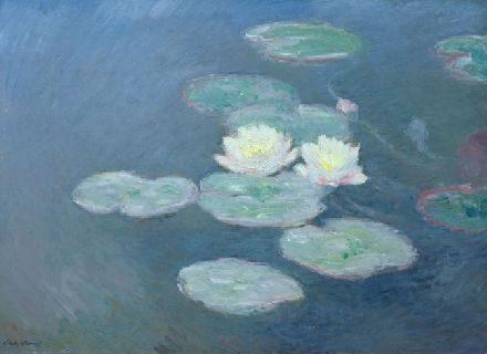 Ninfee, effetto della sera di Claude Monet