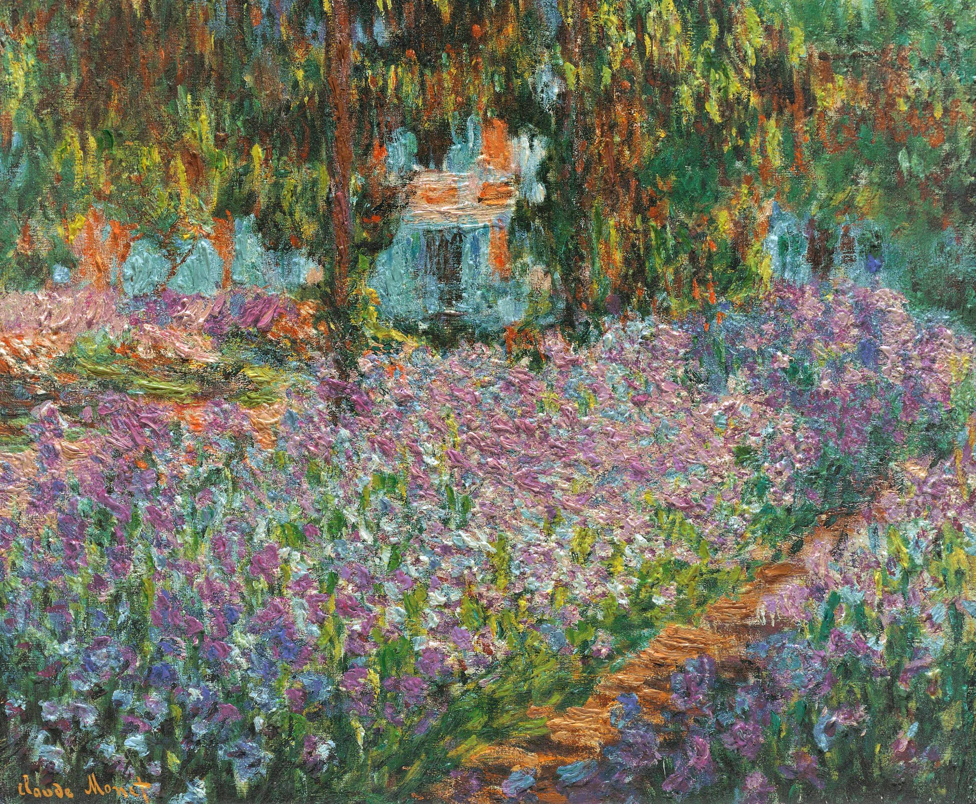 Il giardino dell'artista a Giverny di Claude Monet