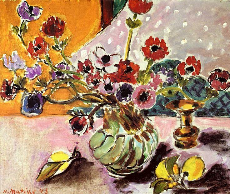 Anemones Henri Matisse