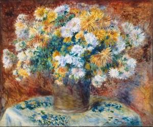 Chrysanthemums, Pierre August Renoir 1882; Olio su tela (54.8 x 65.8 cm)