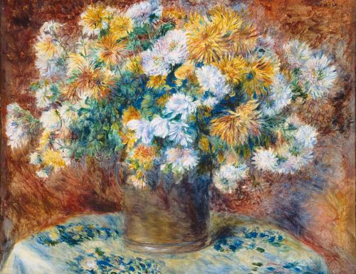Chrysanthemums  Pierre August Renoir