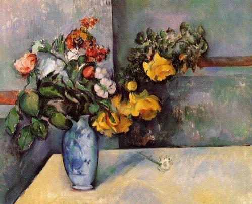 Natura morta, fiori in un vaso – Paul Cézanne