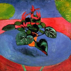 Purple cyclamen, Henri Matisse 1913; Olio su tela (73 x 60 cm)