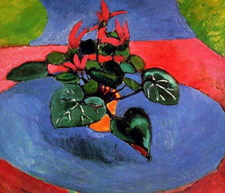 Purple cyclamen Henri Matisse