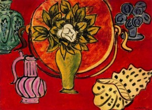Still life with magnolia, Henri Matisse 1941; Olio su tela (74 x 101 cm)