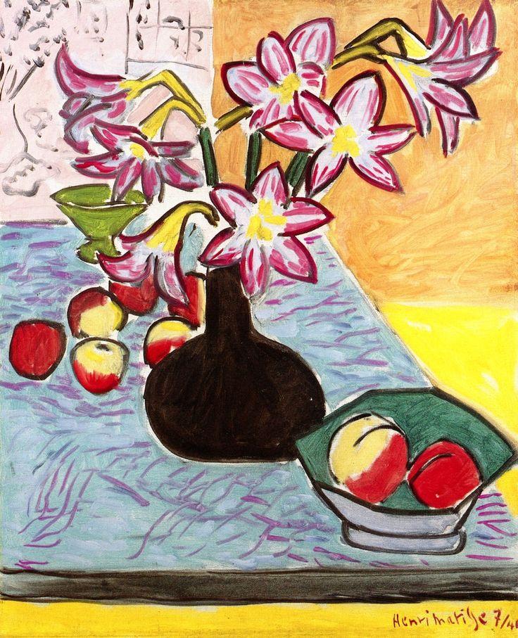 Vase of amaryllis Henry Matisse
