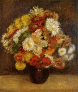 Bouquet of chrysanthemums, 1881; Olio su tela