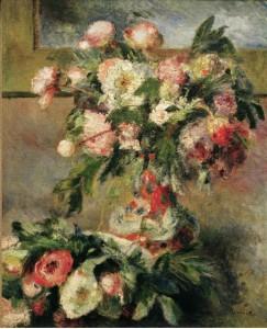 Peonies, Pierre August Renoir 1878; Olio su tela