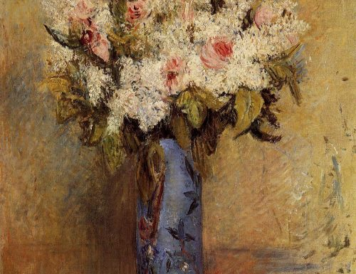 Vase of lilacs and roses Pierre August Renoir