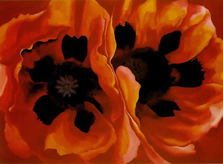 Oriental Poppies, Georgia O'Keeffe 1928