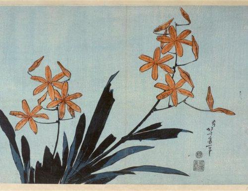 Katsushika Hokusai – Orange orchids
