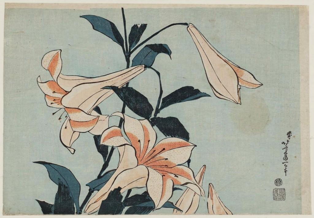 Lilies - Katsushika Hokusai