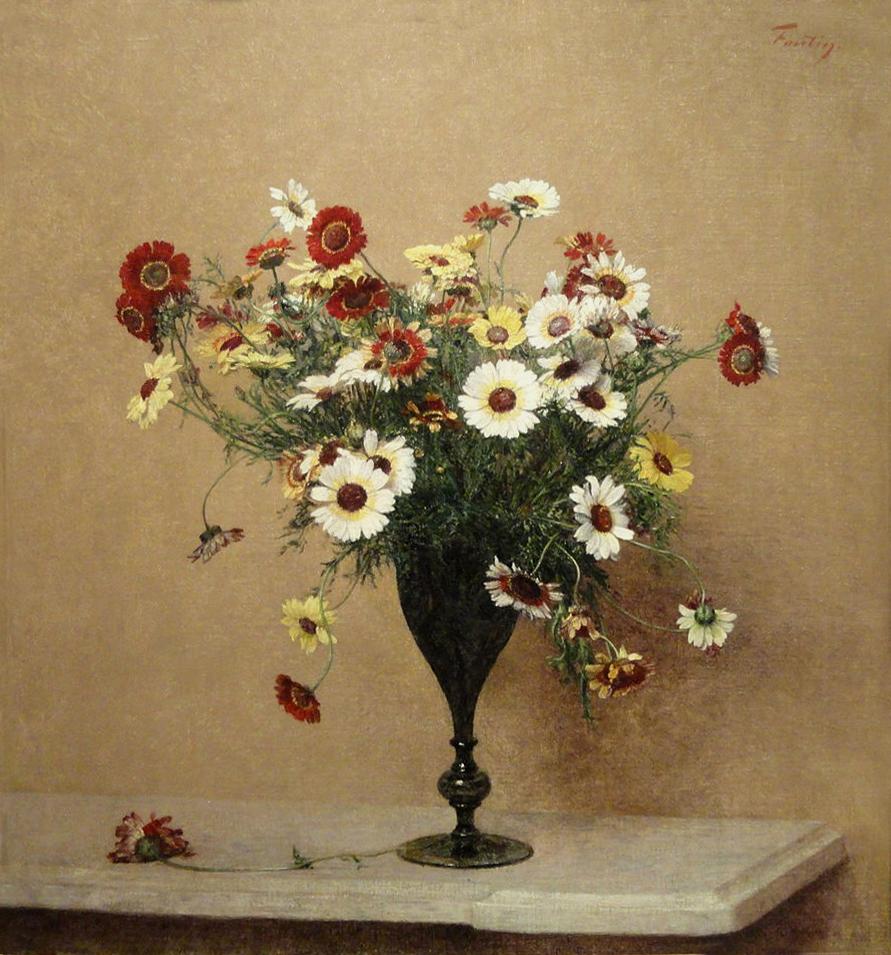 Crisantemi di Henri Fantin Latour