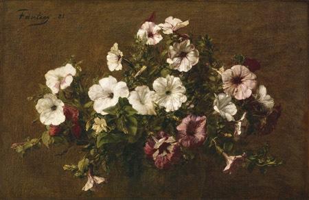 Petunias (Petunie) di Henri Fantin Latour