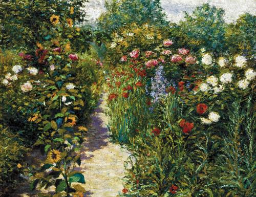 Garden at Giverny di John Leslie Breck